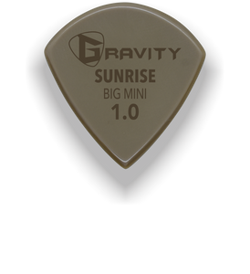 Sunrise Big Mini 1.0mm Gold Guitar Pick Handmade Custom Best Acoustic Mandolin Electric Ukulele Bass Plectrum Bright Loud Faster Speed