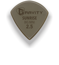 Load image into Gallery viewer, Sunrise Big Mini 2.5mm Gold Guitar Pick Handmade Custom Best Acoustic Mandolin Electric Ukulele Bass Plectrum Bright Loud Faster Speed