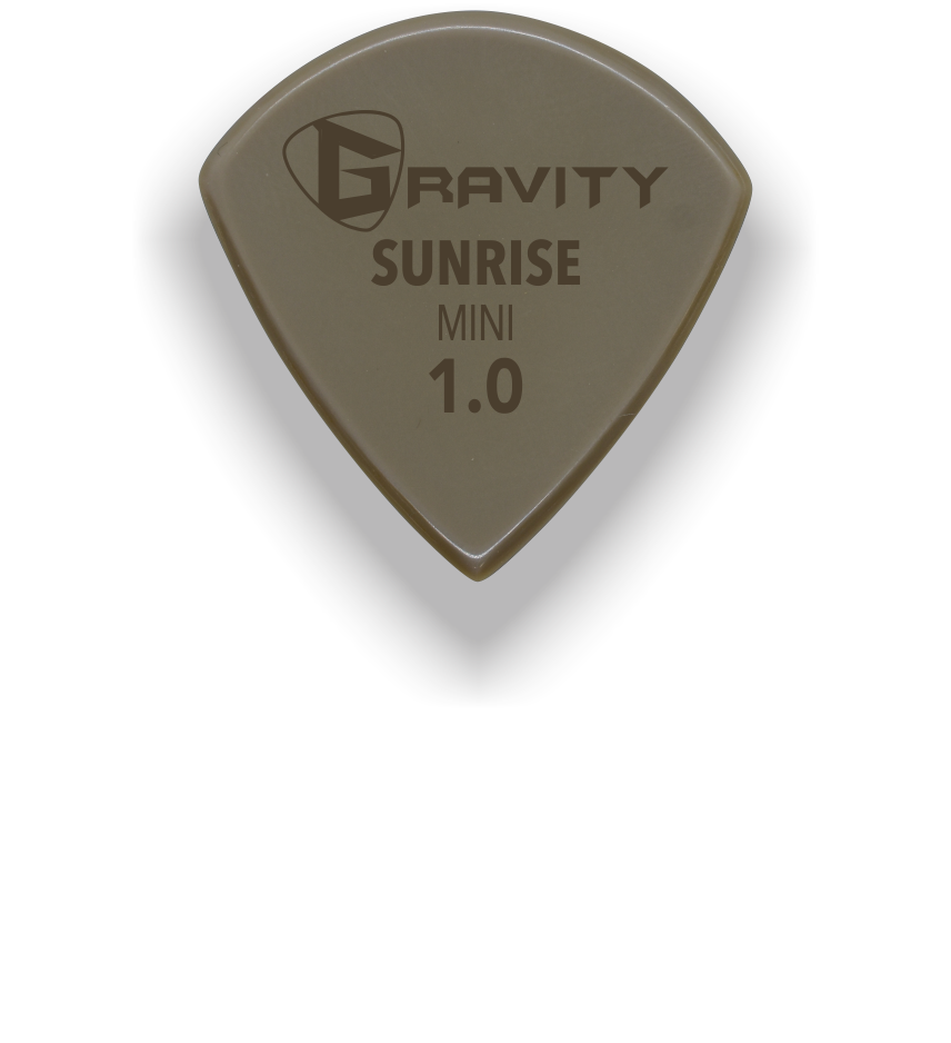 Sunrise Mini Jazz 1.0mm Gold Guitar Pick Handmade Custom Best Acoustic Mandolin Electric Ukulele Bass Plectrum Bright Loud Faster Speed