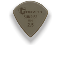 Load image into Gallery viewer, Sunrise Mini Jazz 2.5mm Gold Guitar Pick Handmade Custom Best Acoustic Mandolin Electric Ukulele Bass Plectrum Bright Loud Faster Speed