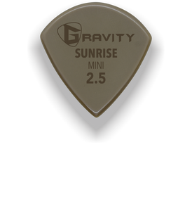 Sunrise Mini Jazz 2.5mm Gold Guitar Pick Handmade Custom Best Acoustic Mandolin Electric Ukulele Bass Plectrum Bright Loud Faster Speed