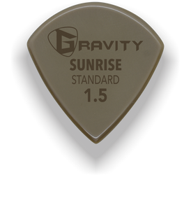 Sunrise Standard 1.5mm Gold Guitar Pick Handmade Custom Best Acoustic Mandolin Electric Ukulele Bass Plectrum Bright Loud Faster Speed