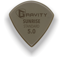 Load image into Gallery viewer, Sunrise Standard 5.0mm Gold Guitar Pick Handmade Custom Best Acoustic Mandolin Electric Ukulele Bass Plectrum Bright Loud Faster Speed