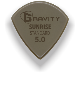 Sunrise Standard 5.0mm Gold Guitar Pick Handmade Custom Best Acoustic Mandolin Electric Ukulele Bass Plectrum Bright Loud Faster Speed