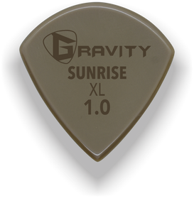 Sunrise XL 1.0mm Gold Guitar Pick Handmade Custom Best Acoustic Mandolin Electric Ukulele Bass Plectrum Bright Loud Faster Speed