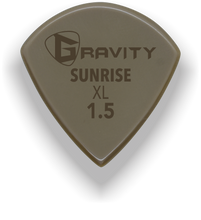 Load image into Gallery viewer, Sunrise XL 1.5mm Gold Guitar Pick Handmade Custom Best Acoustic Mandolin Electric Ukulele Bass Plectrum Bright Loud Faster Speed