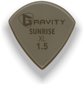 Sunrise XL 1.5mm Gold Guitar Pick Handmade Custom Best Acoustic Mandolin Electric Ukulele Bass Plectrum Bright Loud Faster Speed