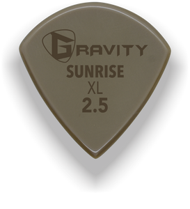 Sunrise XL 2.5mm Gold Guitar Pick Handmade Custom Best Acoustic Mandolin Electric Ukulele Bass Plectrum Bright Loud Faster Speed