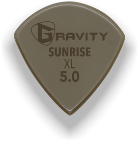 Sunrise XL 5.0mm Gold Guitar Pick Handmade Custom Best Acoustic Mandolin Electric Ukulele Bass Plectrum Bright Loud Faster Speed
