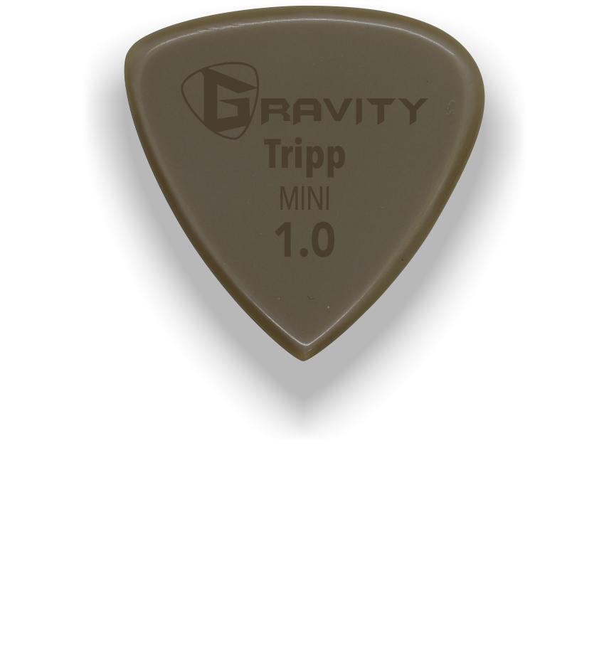 Tripp Mini Jazz 1.0mm Gold Guitar Pick Handmade Custom Best Acoustic Mandolin Electric Ukulele Bass Plectrum Bright Loud Faster Speed