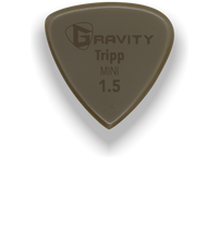 Load image into Gallery viewer, Tripp Mini Jazz 1.5mm Gold Guitar Pick Handmade Custom Best Acoustic Mandolin Electric Ukulele Bass Plectrum Bright Loud Faster Speed