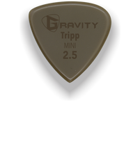 Load image into Gallery viewer, Tripp Mini Jazz 2.5mm Gold Guitar Pick Handmade Custom Best Acoustic Mandolin Electric Ukulele Bass Plectrum Bright Loud Faster Speed