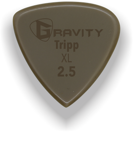 Tripp XL 2.5mm Gold Guitar Pick Handmade Custom Best Acoustic Mandolin Electric Ukulele Bass Plectrum Bright Loud Faster Speed