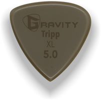 Load image into Gallery viewer, Tripp XL 5.0mm Gold Guitar Pick Handmade Custom Best Acoustic Mandolin Electric Ukulele Bass Plectrum Bright Loud Faster Speed