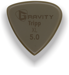 Tripp XL 5.0mm Gold Guitar Pick Handmade Custom Best Acoustic Mandolin Electric Ukulele Bass Plectrum Bright Loud Faster Speed