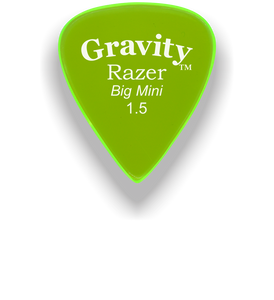 Razer Big Mini 1.5mm Fluorescent Green Guitar Pick
