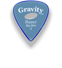 Load image into Gallery viewer, Razer Big Mini 2.0mm Blue Elipse Grip Guitar Pick
