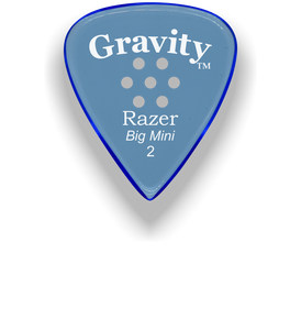 Razer Big Mini 2.0mm Blue Multi-Hole Grip Guitar Pick