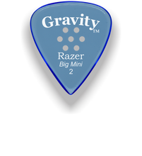 Load image into Gallery viewer, Razer Big Mini 2.0mm Blue Multi-Hole Grip Guitar Pick