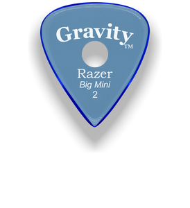 Razer Big Mini 2.0mm Blue Single Round Grip Guitar Pick