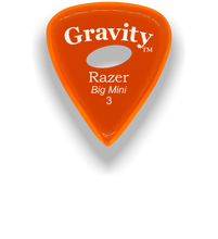 Load image into Gallery viewer, Razer Big Mini 3.0mm Orange Elipse Grip Guitar Pick