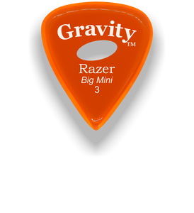 Razer Big Mini 3.0mm Orange Elipse Grip Guitar Pick
