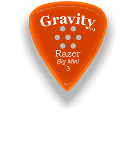 Razer Big Mini 3.0mm Orange Multi-Hole Grip Guitar Pick