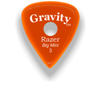 Load image into Gallery viewer, Razer Big Mini 3.0mm Orange Single Round Grip Guitar Pick