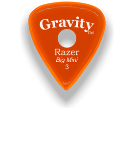 Razer Big Mini 3.0mm Orange Single Round Grip Guitar Pick