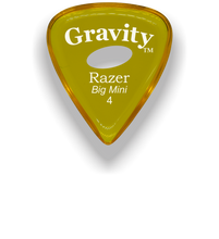 Load image into Gallery viewer, Razer Big Mini 4.0mm Yellow Elipse Grip Guitar Pick