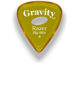 Razer Big Mini 4.0mm Yellow Elipse Grip Guitar Pick
