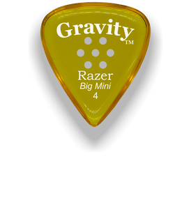 Razer Big Mini 4.0mm Yellow Multi-Hole Grip Guitar Pick