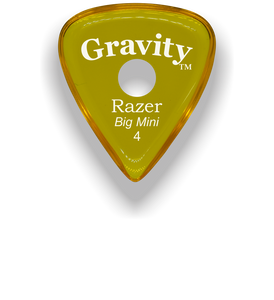 Razer Big Mini 4.0mm Yellow Single Round Grip Guitar Pick