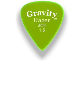 Razer Mini 1.5mm Fluorescent Green Guitar Pick