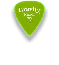 Load image into Gallery viewer, Razer Mini 1.5mm Fluorescent Green Guitar Pick
