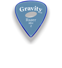 Load image into Gallery viewer, Razer Mini 2.0mm Blue Elipse Grip Guitar Pick