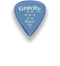 Load image into Gallery viewer, Razer Mini 2.0mm Blue Multi-Hole Grip Guitar Pick