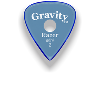 Load image into Gallery viewer, Razer Mini 2.0mm Blue Single Round Grip Guitar Pick