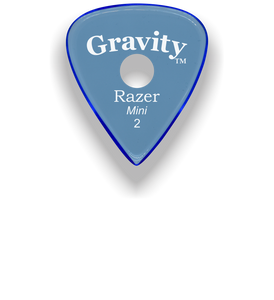 Razer Mini 2.0mm Blue Single Round Grip Guitar Pick