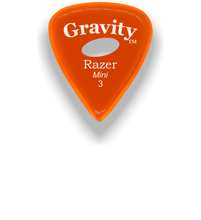 Load image into Gallery viewer, Razer Mini 3.0mm Orange Elipse Grip Guitar Pick