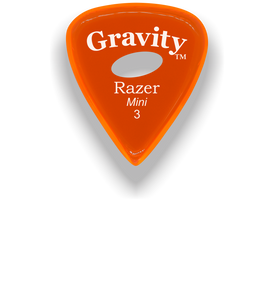 Razer Mini 3.0mm Orange Elipse Grip Guitar Pick