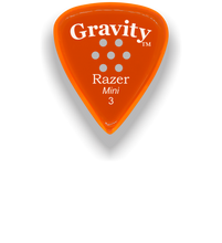 Load image into Gallery viewer, Razer Mini 3.0mm Orange Multi-Hole Grip Guitar Pick