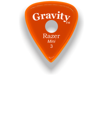 Load image into Gallery viewer, Razer Mini 3.0mm Orange Single Round Grip Guitar Pick