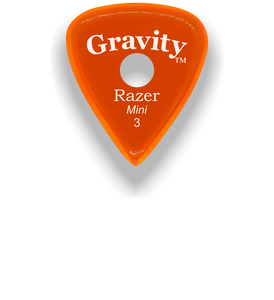 Razer Mini 3.0mm Orange Single Round Grip Guitar Pick