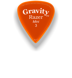 Razer Mini 3.0mm Orange Guitar Pick