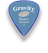 Load image into Gallery viewer, Razer Standard 2.0mm Blue Elipse Grip Guitar Pick