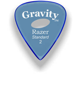 Razer Standard 2.0mm Blue Elipse Grip Guitar Pick