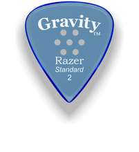 Load image into Gallery viewer, Razer Standard 2.0mm Blue Multi-Hole Grip Guitar Pick