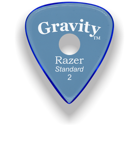 Razer Standard 2.0mm Blue Single Round Grip Guitar Pick