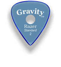 Load image into Gallery viewer, Razer Standard 2.0mm Blue Single Round Grip Guitar Pick